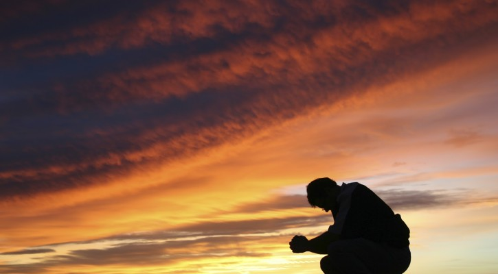 prayer_sunset